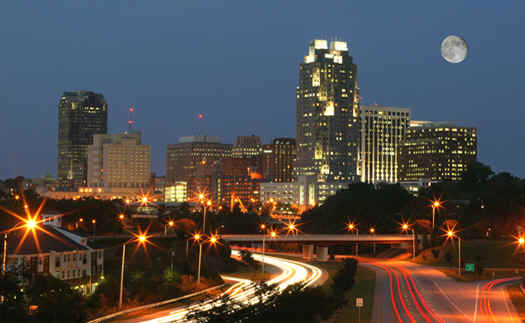 Raleigh North Carolina Night