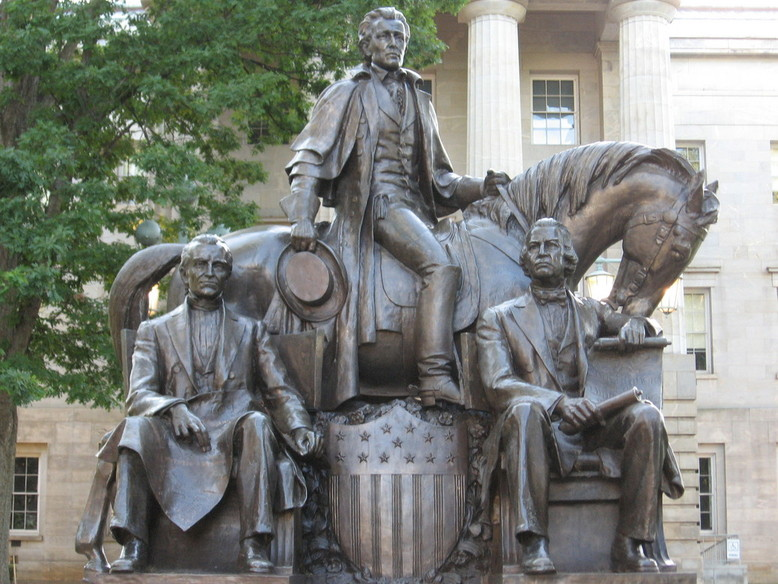 Statue of 3 Presidents From North Carolina